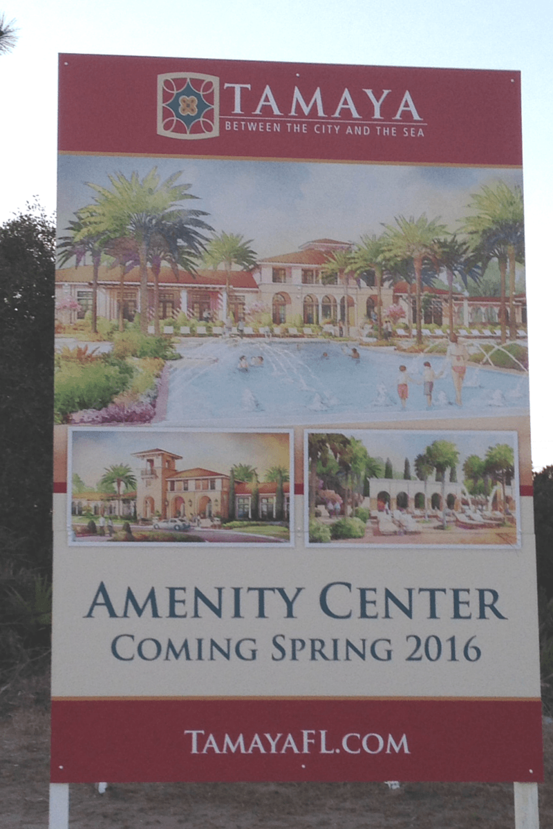 Tamaya Amenity Center sign blog